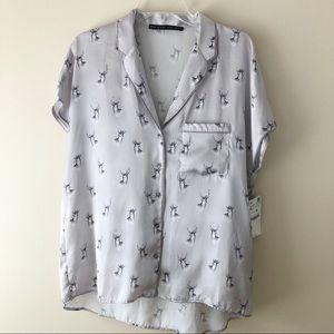 Zara Pajama Blouse